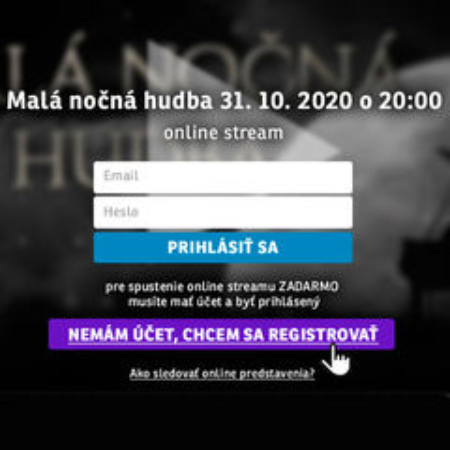 LIVE STREAM_registracia